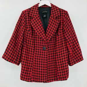Lane Bryant Houndstooth Plaid Jacket Blazer